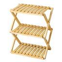コーナンオリジナル コーナンラック 折り畳み式木製ラック W460(3段) ナチュラル【ラッキーシール対応】