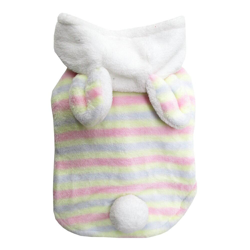 ナイス企画 みみ付きパステル細 オフホワイト Sサイズ ペットウェア ペット服 かわいい おしゃれ 北欧