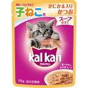 コーナンeショップ 楽天市場店で買える「マース カルカンウィスカス 極みだしスープ仕立て 12ヵ月までの子猫用 かにかま入りかつお70g」の画像です。価格は70円になります。
