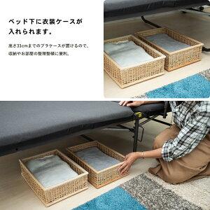 折りたたみベッドKR18−0059ベッドシングル折りたたみベッドシングルベッド簡易ベッドコンパクトベット折り畳みベッド折り畳みリクライニングベッドコーナン