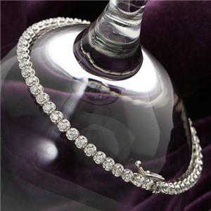 1ctダイヤモンドテニスブレスレット シルバーカラー:介護・健康用品相談  吉縁