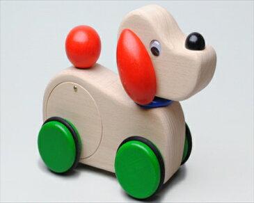 【日本製】木のおもちゃ M32 メロディワンワン 犬のおもちゃ 車 メロディカー アニマル 木製 木の玩具 木製玩具 誕生祝 出産祝 クリスマスプレゼント ギフト 赤ちゃん 女の子 男の子 知育 2歳 3歳 安心安全 コイデ東京 コイデ KOIDE