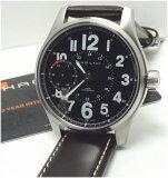 【あす楽対応】HAMILTON カーキ  オフィサー手巻き機械時計 メンズ 44mm H69619533