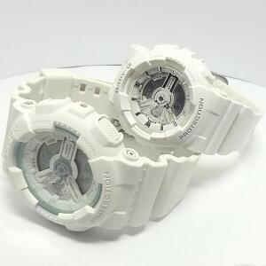 【あす楽対応】G-SHOCKBaby-Gペアウォッチ人気のホワイトアナログGA-110BC-7AJFBA-110-7A3JF