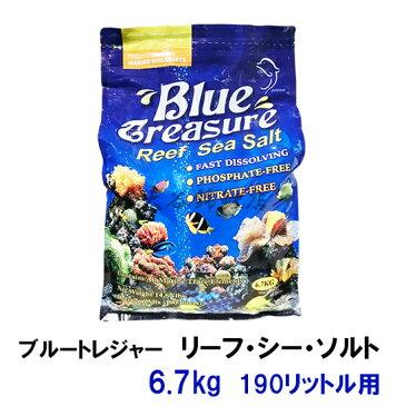 ブルートレジャー リーフシーソルト 6.7kg 190リットル用 人工海水【♭】