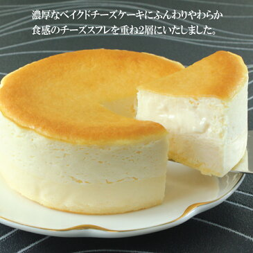 【とろける2層のチーズケーキ】小島屋乳業製菓 チーズケーキ 4号 ベイクドチーズケーキ チーズスフレ スイーツ