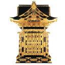 【寺院用】 御宮殿(おくうでん) 三方妻四本柱 黒塗 本金箔押 柱彩色 金具打屋根張4尺(120cm) 別上品(カシュー塗)【配送区分:h】宅配便のみ・一部地域除き||送料無料||
