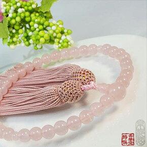ローズクオーツ|数珠|紅水晶