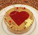 ★期間限定★【ルージュ 直径15cm】フランスヴァローナ社のチョコレートのムースとハートの木苺のムースとジュレ【ホワイトデー】 卒業祝いチョコレートケーキ バースデーケーキ 誕生日ケーキ 結婚記念日 横浜 チョコレートムース