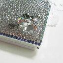【送料無料】デコ 電卓(コンパクトタイプ)スワロフスキー全貼り・ファンシーストーン 折りたたみ 電卓 スワロデコ