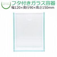 コケリウムガラス容器ホワイト(フタ付)