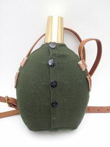 旧日本軍の将校用水筒です。日本軍 将校用水筒 アルミ製 カバー 水筒紐付 複製品