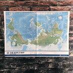 世界地図 A2 (THE WORLD MAP Upside Down / 逆さ地図)  【東京カートグラフィック】