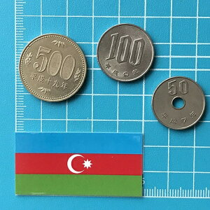 アゼルバイジャンの国旗ステッカー・2S