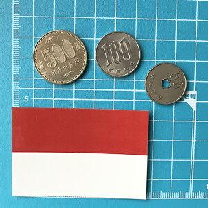 インドネシア国旗のシール