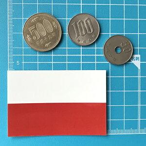 ポーランド国旗のシール