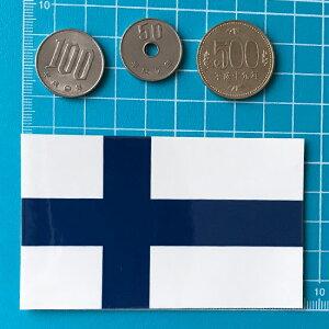 フィンランド国旗のシール