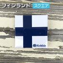 フィンランド(スクエア)国旗&地域の旗の缶バッジ・カンバッチ