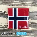 ノルウェー(スクエア)国旗の缶バッジ・カンバッチ