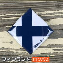 フィンランド(ロンバス)国旗の缶バッジ・カンバッチ