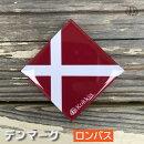 デンマーク(ロンバス)国旗の缶バッジ・カンバッチ