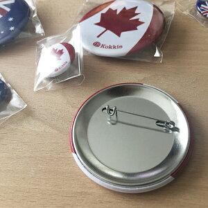 世界の国旗・カナダの缶バッチ