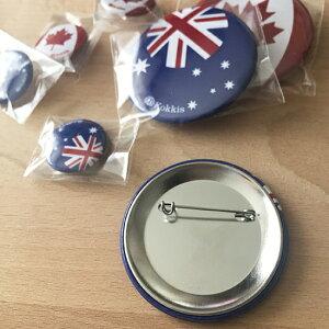 世界の国旗・オーストラリアの缶バッチ