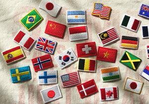 世界国旗パッチ・ミニ・日本国旗(日の丸)