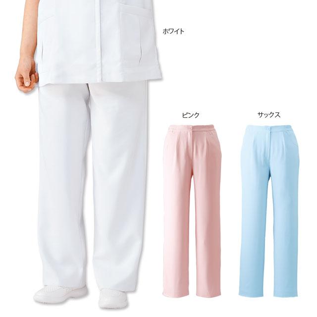 2110 ゆったり 美脚ストレートパンツ(7L〜10L)【医療 ナース 看護師 白衣 女性】