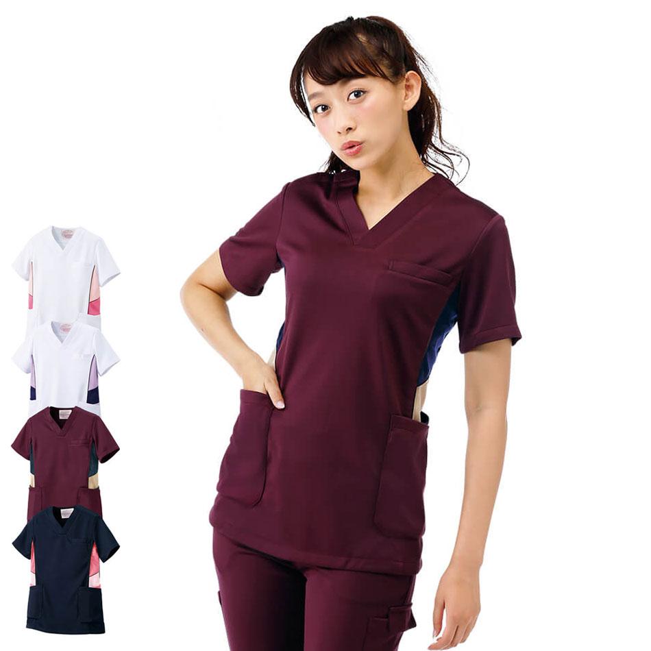 2368 アメリカンスクラブ(Type3/アクティブストレッチ) 【医療 ナース 看護師 白衣 女性】