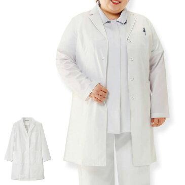 2457 ハイパフォーマンスストレッチ ゆったりドクターコート(3L〜6L)【医療 ナース 看護師 白衣 女性 病院 実験 研究 ユニフォーム】