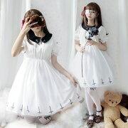 大人気レディースゴスロリロリータワンピース二次元衣装チュールスカート美人少女ウェアロリータ2色あり黒白ダンス衣装メイドキャミソールドレスLOLITAコスゴジックアニメファッション可愛いハロウィンコスチュームイベント服