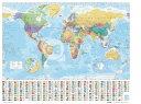 輸入品のミニポスターミニポスター 世界地図WORLD MAP