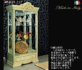 ロココ調プリンセススタイルイタリア家具 ミラー 食器棚 カップボード 収納家具,イタリア,白家具,レオナルド