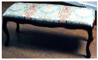 【イタリア製】ベンチソファ ロングスツール 長椅子 送料無料(グリーン):癒しのヴェルサイユ宮殿