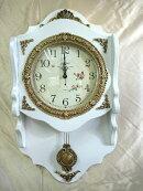 高級壁掛け時計振子時計エレガントホワイト