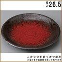 【 丸盛皿 シリーズ 】 朱雲丸皿(9.0) 【日本製/国産/陶器/業...