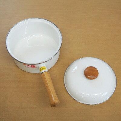 鍋 18cm IH対応 リサとガスパール ホーロー製片手鍋18cm