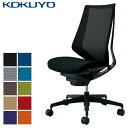 コクヨ デスクチェア オフィスチェア 椅子 duora デュオラ CR-G3000E6 メッシュタイプ ハイバック 肘なし ブラックフレーム ランバーサポートなし ブラック樹脂脚 -w カーペット用キャスター 1