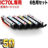 エプソンIC70専用プリンター目詰まり洗浄カートリッジ6色(IC6CL70L)用セット【メール便送料無料】-画像1