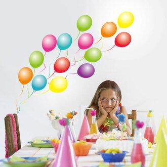 易的壁貼紙和剝離 < 五顏六色的氣球在大小 >