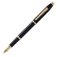 【取り寄せ品】CROSSプレシャスセンチュリーIIブラックラッカー万年筆【送料無料】-画像1