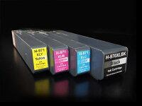hpHP970XLHP971XL互換インク増量顔料タイプ4色セット【ICチップ付】【残量表示対応】【送料無料】-画像1