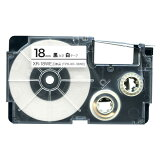 カシオ用 ネームランド 互換 テープカートリッジ XR-18WE ラベル 18mm/白テープ/黒文字
