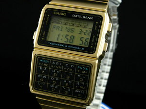 【送料無料】データバンク レトロ&レアな海外モデルCASIO カシオ データバンクゴールドDBC610G...