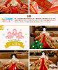 雛人形2018年ひな人形雛「凰翠作眞壽雛静香(しずか)三段飾り」●衣裳着雛人形2018年度モデル初節句ひな祭りお雛様桃の節句