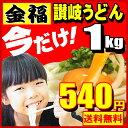 【送料無料】金福讃岐うどん!便利な500g×2袋でナント合計1kg メール便しかも1箇所5個以上な...