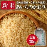 【30年度産・送料無料!(一部地域を除く)】あいちのかおり・30kg ・減農薬玄米