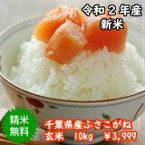 【令和2年産】新米入荷!千葉県産 ふさこがね玄米10kg(5kg×2)送料無料♪精米無料♪【♯元気いただきますプロジェクト】