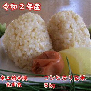 コシヒカリ玄米5kg 令和2年千葉県産  本州四国 精米 コンビニ受取対応商品  #販路多様化 対策事業